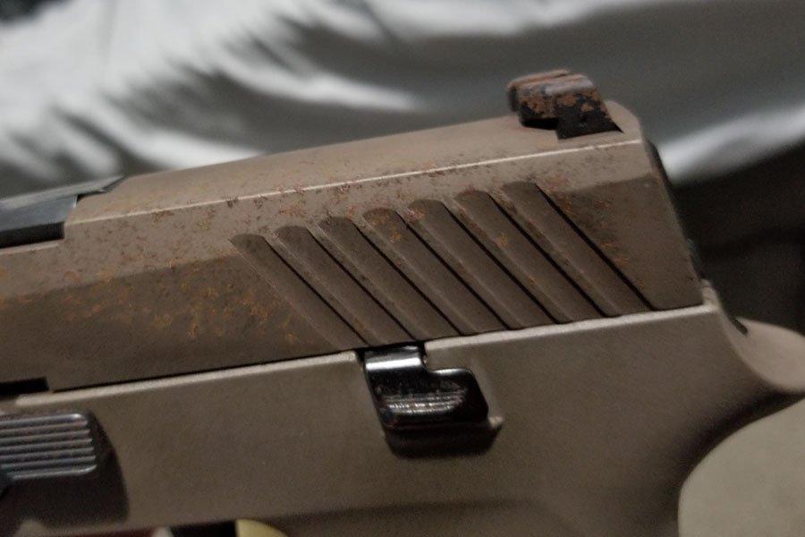 Remove rust form gun